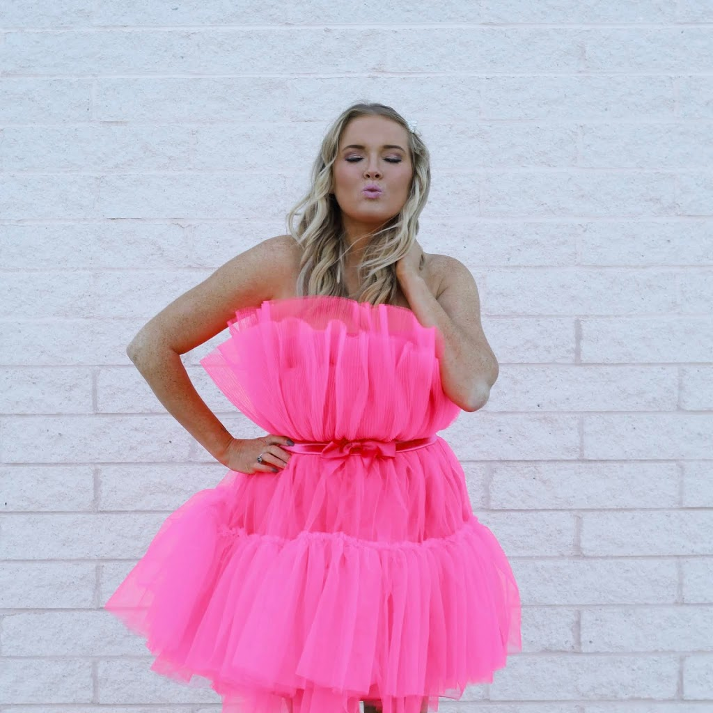 Barbie pink tulle dress