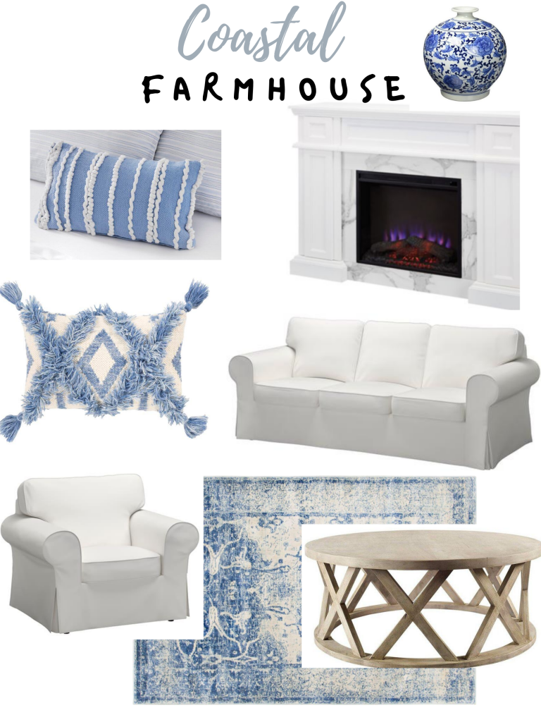 Coastal Farmhouse Living room inspo